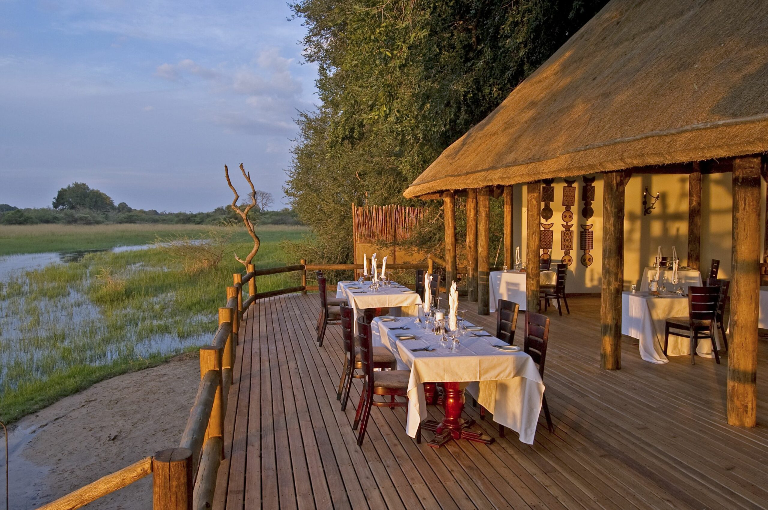 chief' camp main area outdoor view on our Zimbabwe and Botswana safari