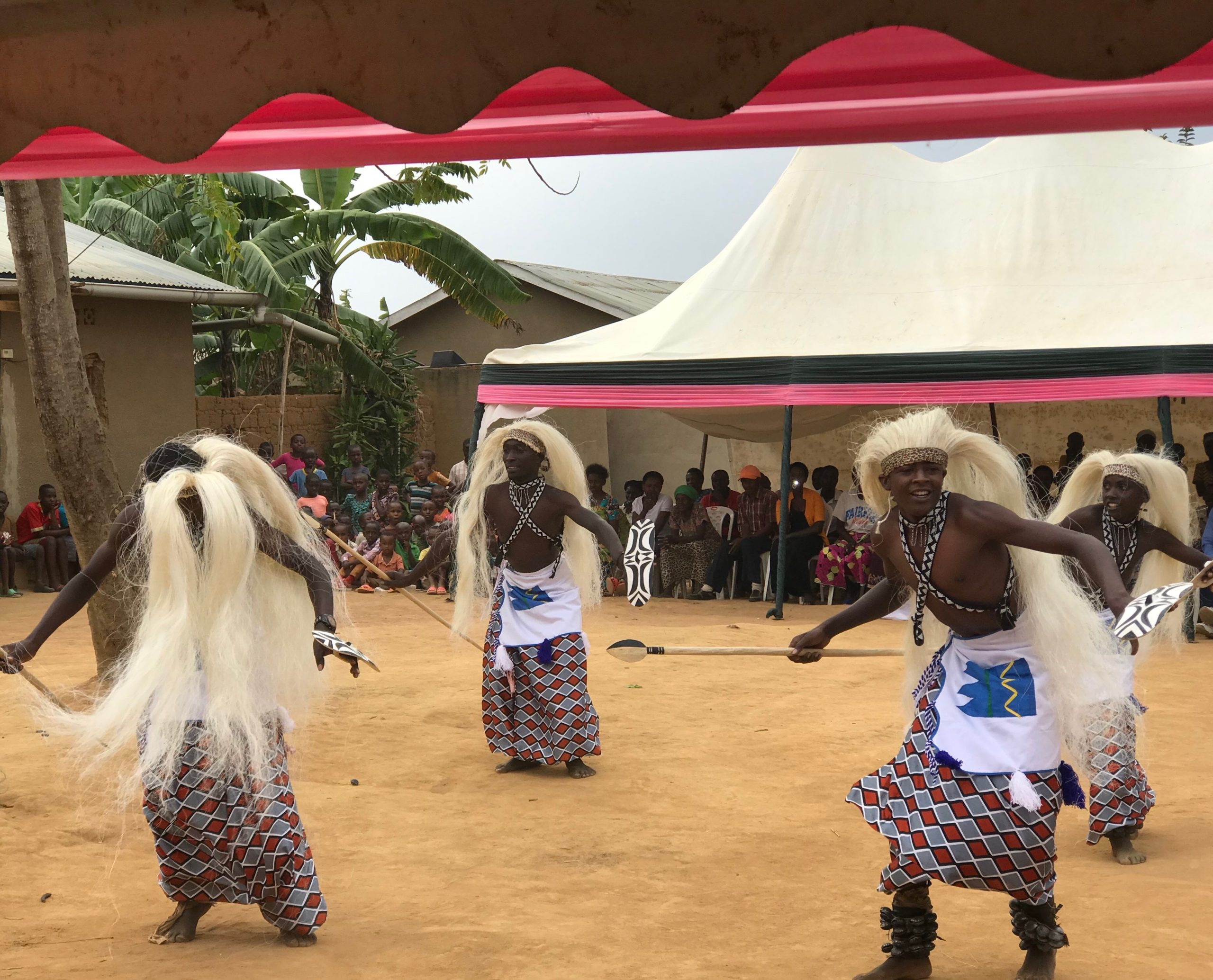 traditional dancers at a reconciliation village in Rwanda