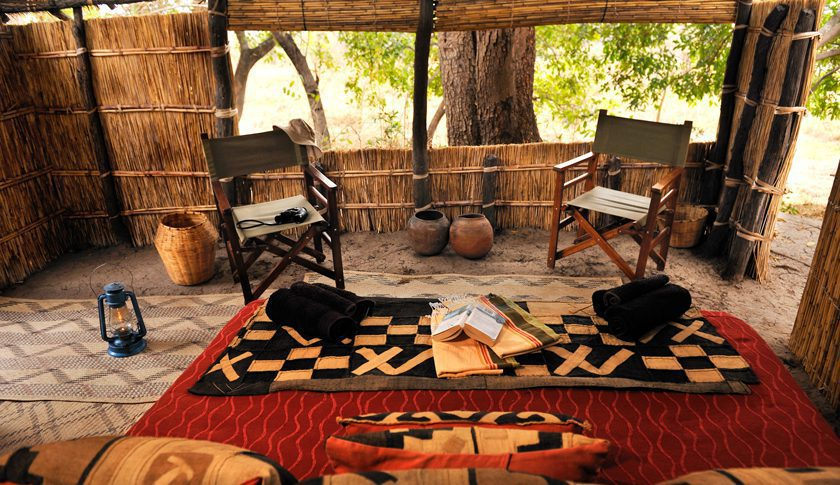 a look inside a room at mwaleshi camp in north luangwa