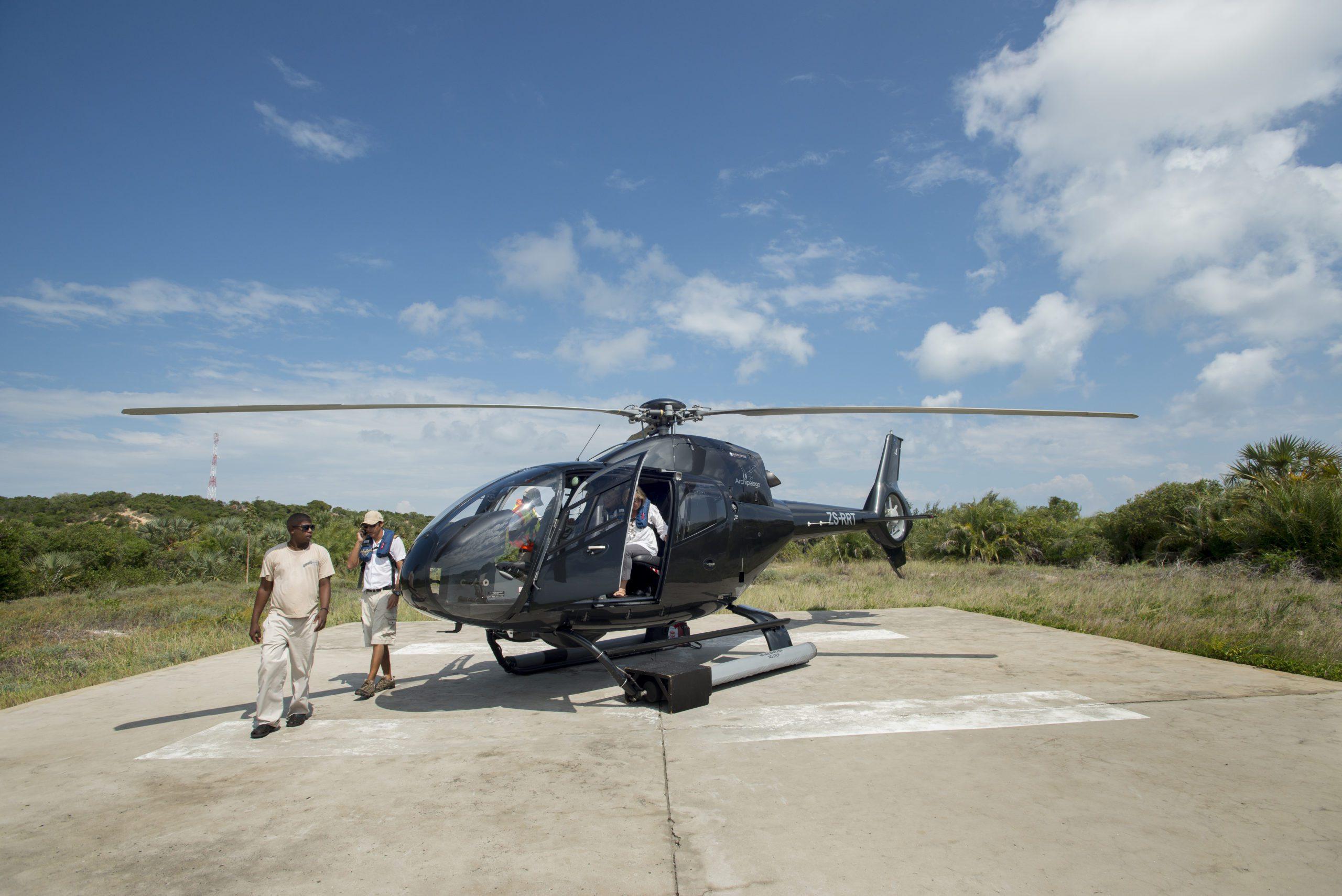 Mozambique heli flip