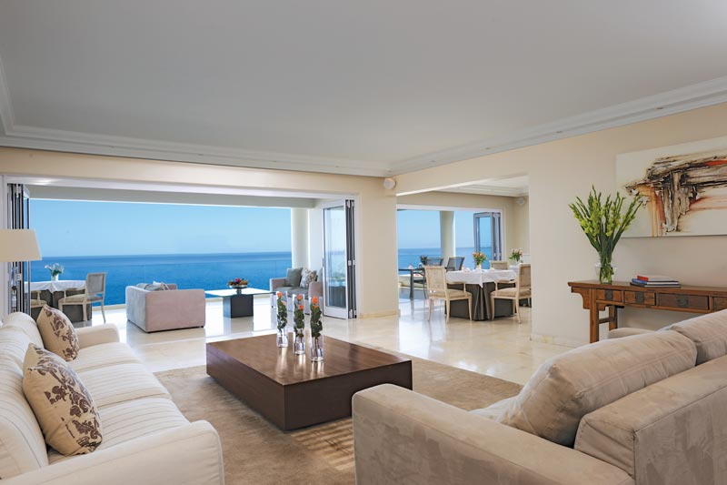 living room at Clarendon bantry bay on this South Africa and Namibia safari