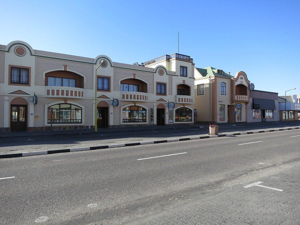 Street in main city of Swakopmund