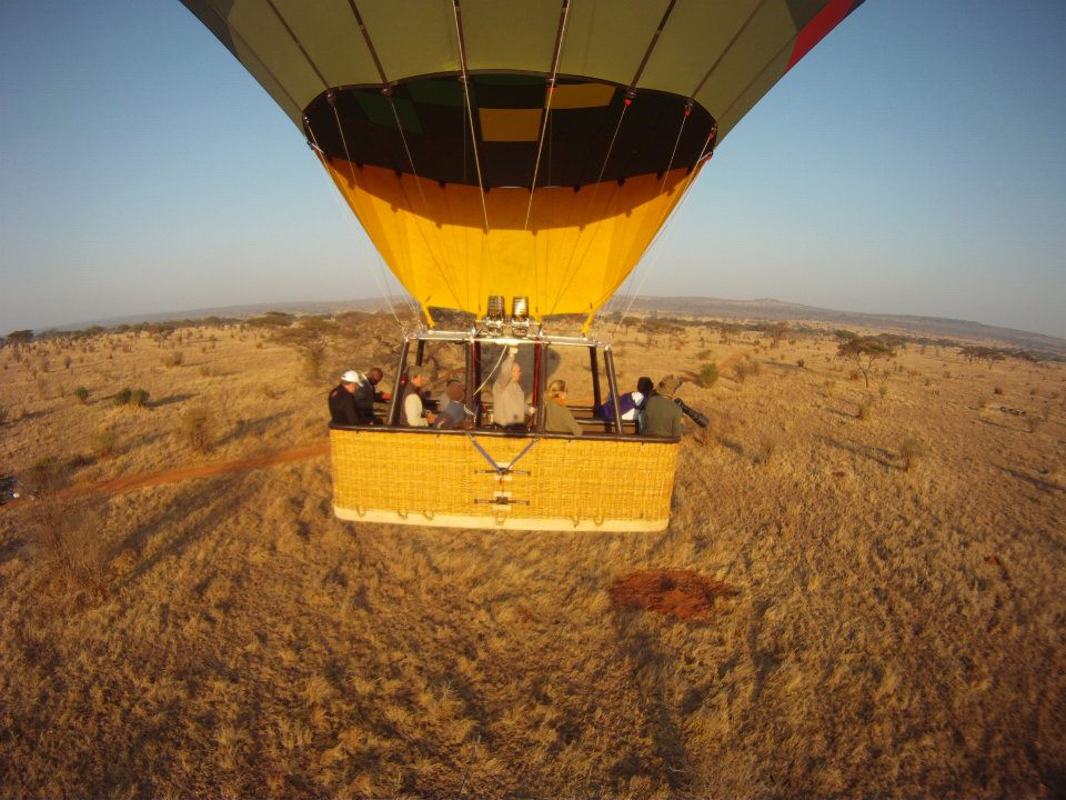 hot air balloon safari launching at sunrise from Chem Chem