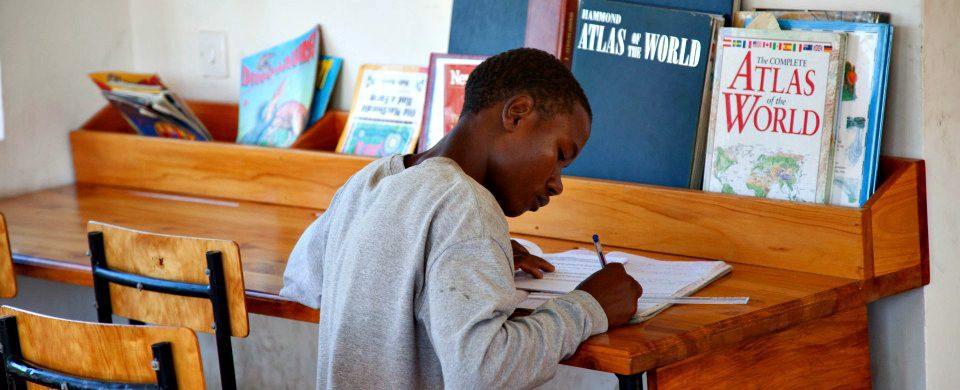 student at jifundishe on a non-profit visit