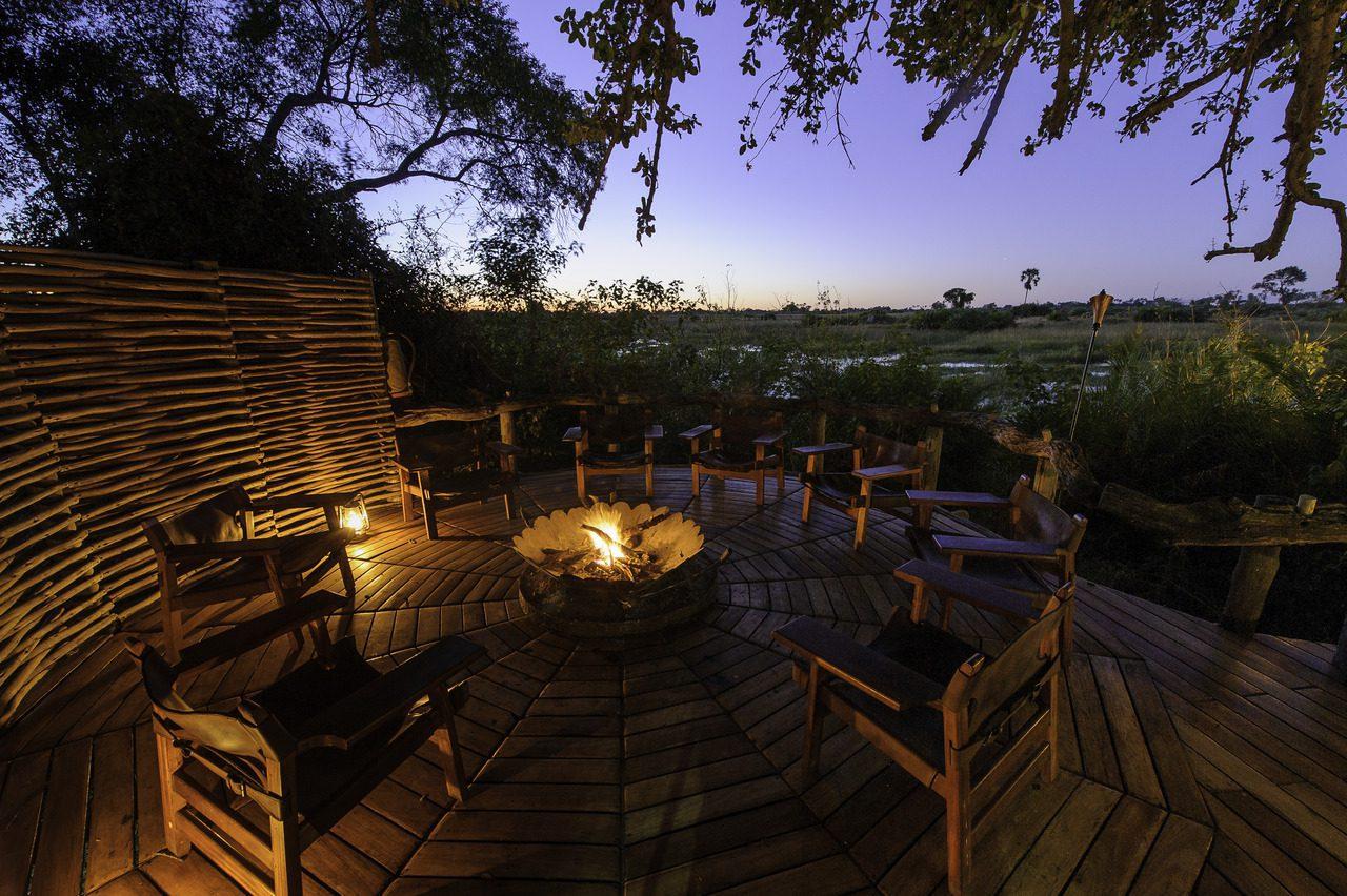 Botswana little mombo fire deck