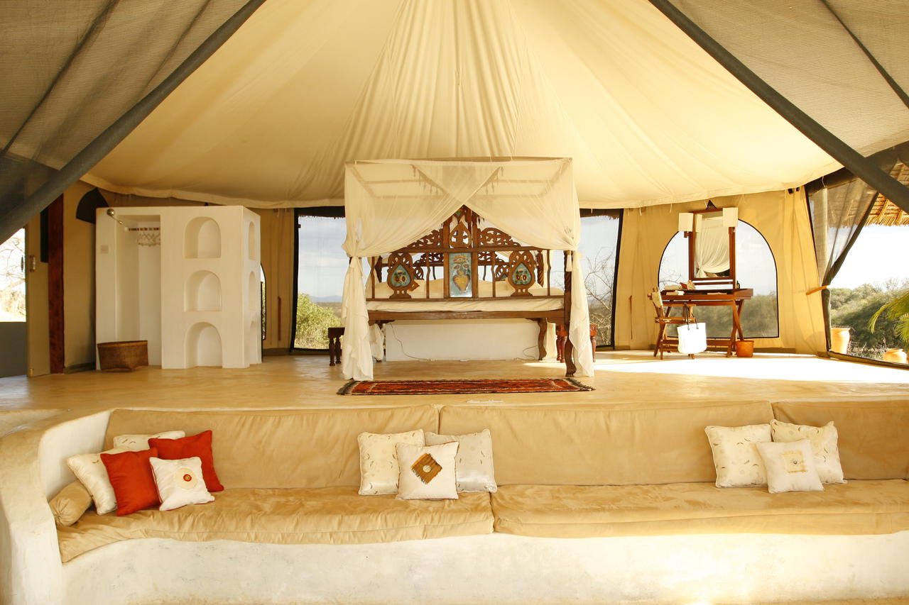 interior of a suite at Sasaab Lodge in Samburu on our best East Africa safari