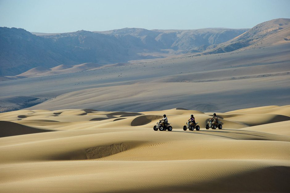 ATV activity over the dunes of the Kunene region at Serra Cafema