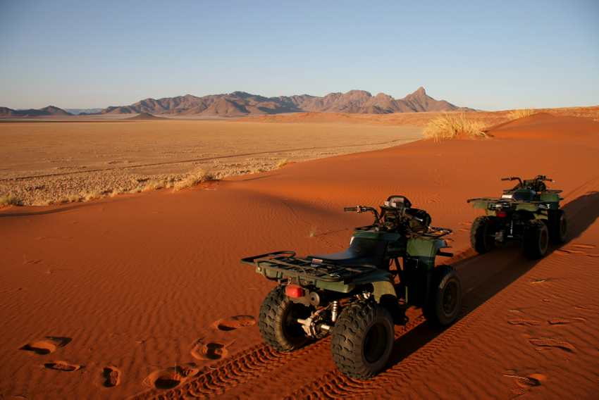 Quad bike and ATV activity available on the dunes of Sossusvlei