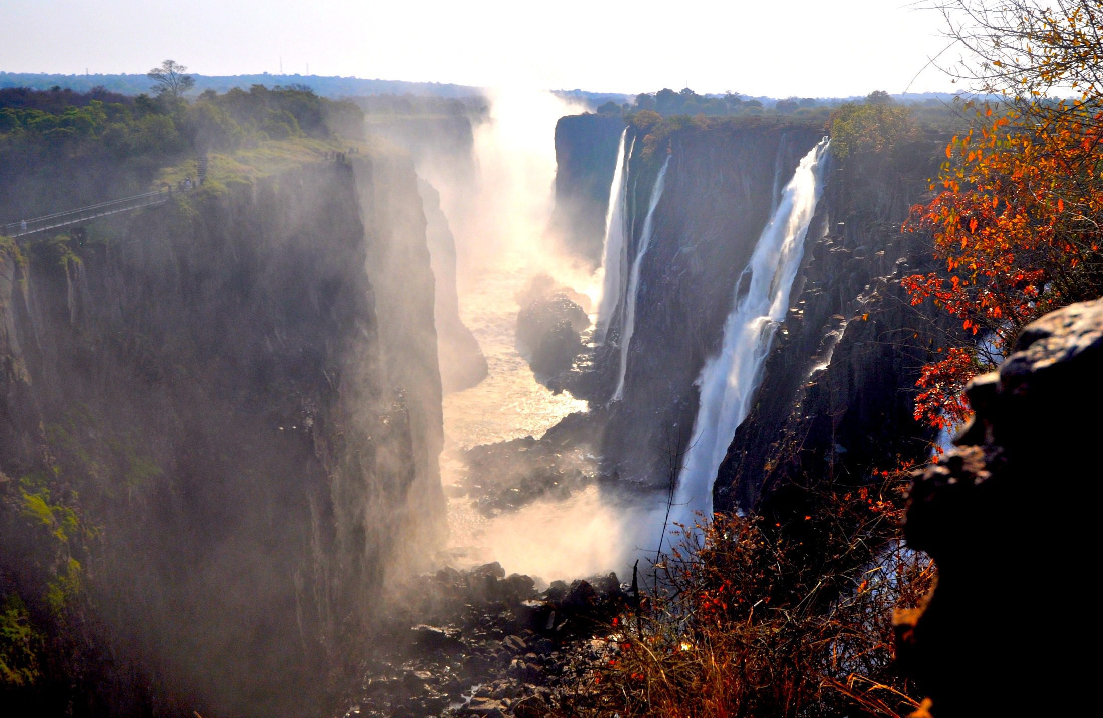 gorge view of the vic falls