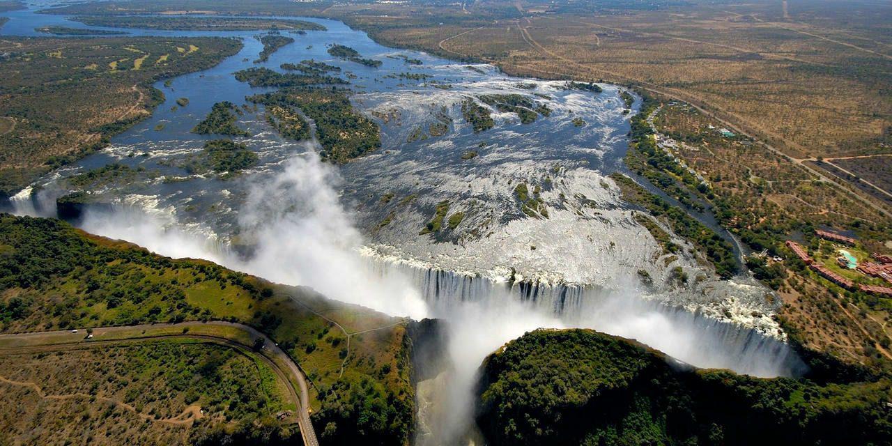 Aerial Shot of Victoria Falls