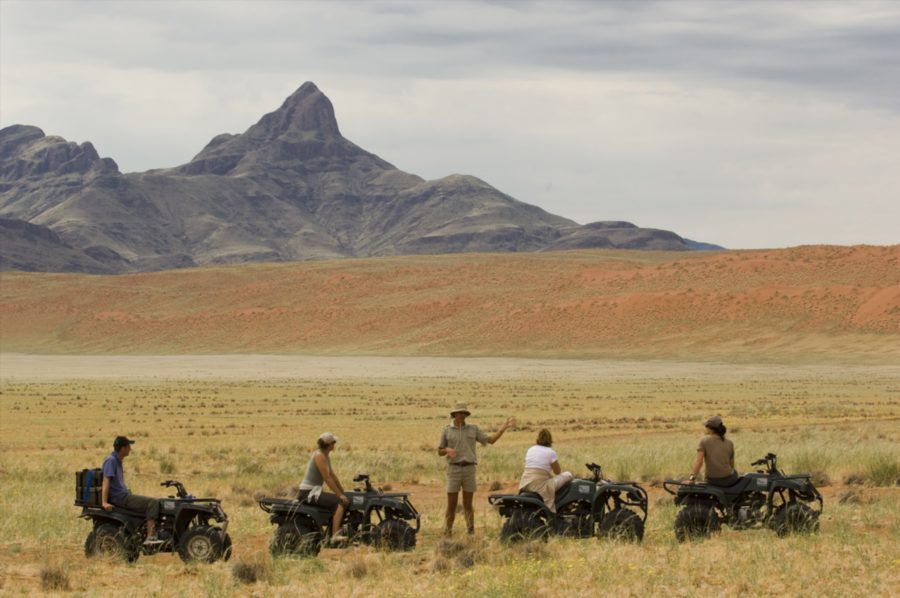 ATVs at Sossusvlei Desert Lodge on this South Africa and Namibia safari