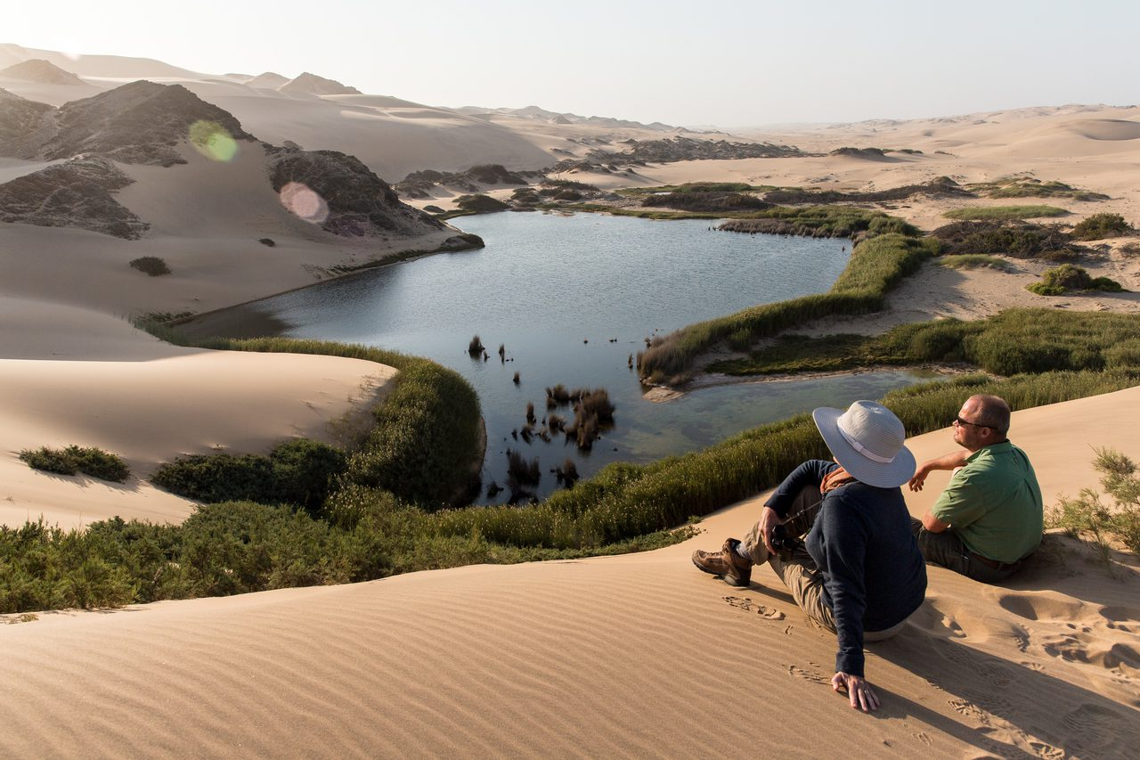 Desert oasis at Hoanib Camp near Skeleton Coast