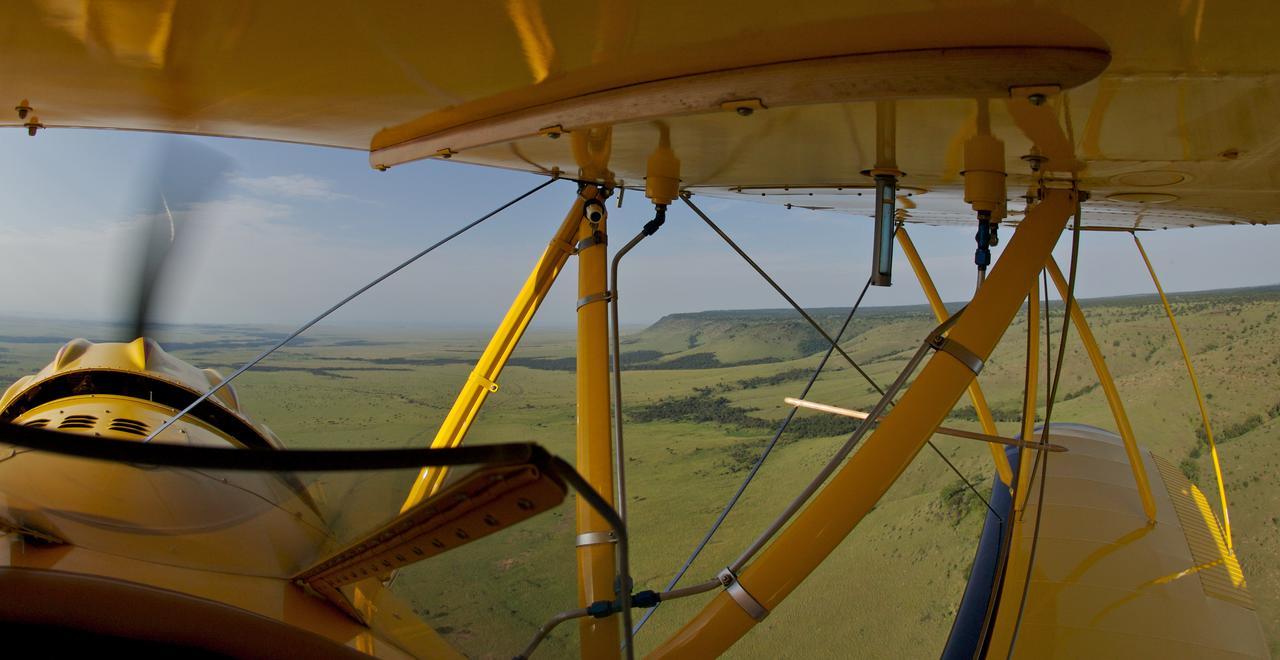 biplane interior over lewa