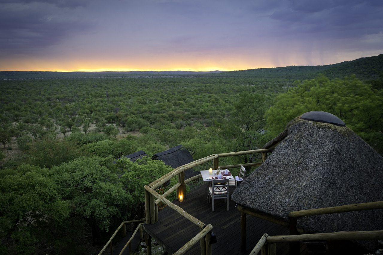 View from Ongava Lodge in Etosha National Park