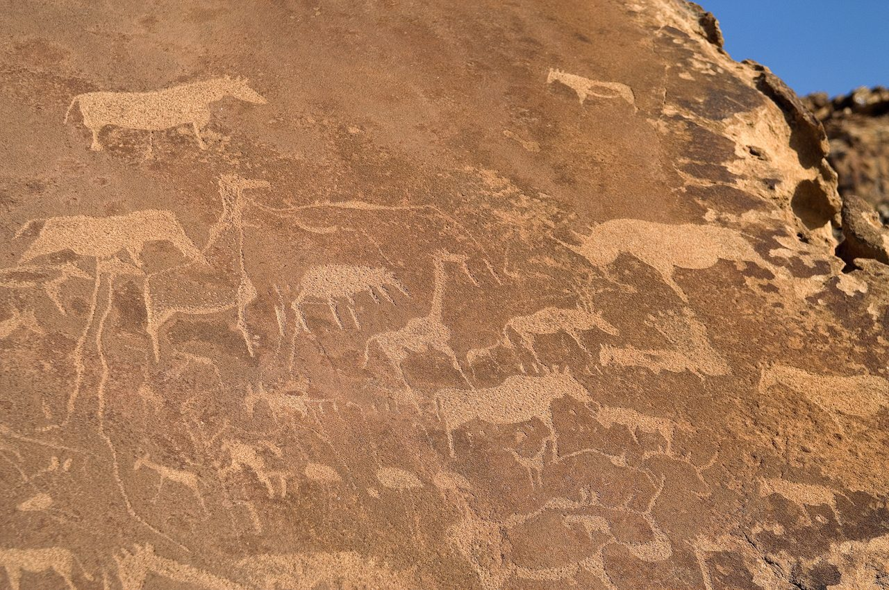 Ancient San Bushmen Twyfelfontein Rock Art at Doro Nawas