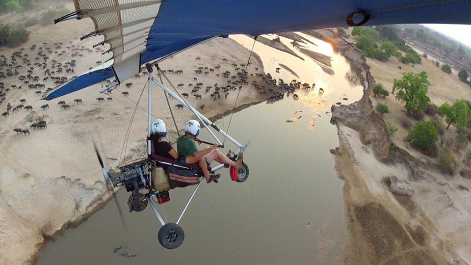microlight safari at tafika camp