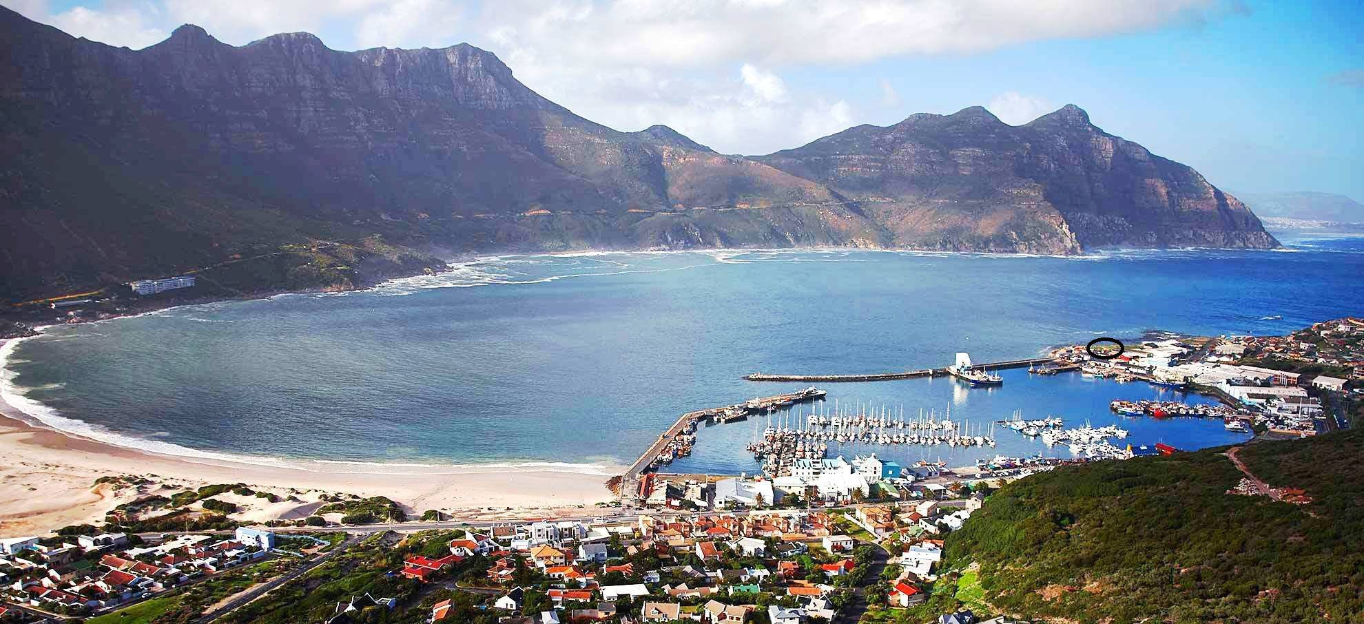 Bay Harbour Market, Hout Bay, black circle give you a sense of the fabulous location!