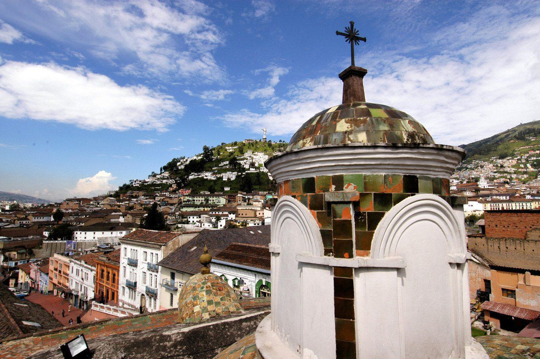 Church in Quito seen on Ecuador tour