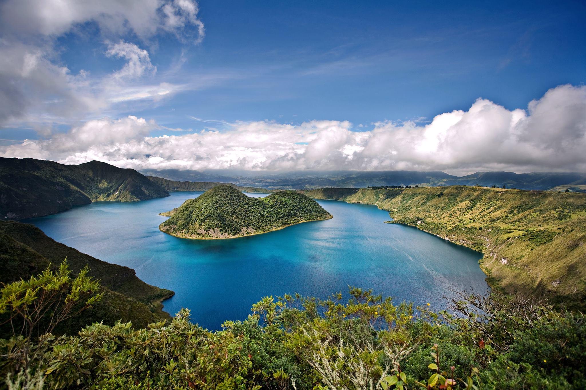 Cuicocha Lagoon in Ecuador
