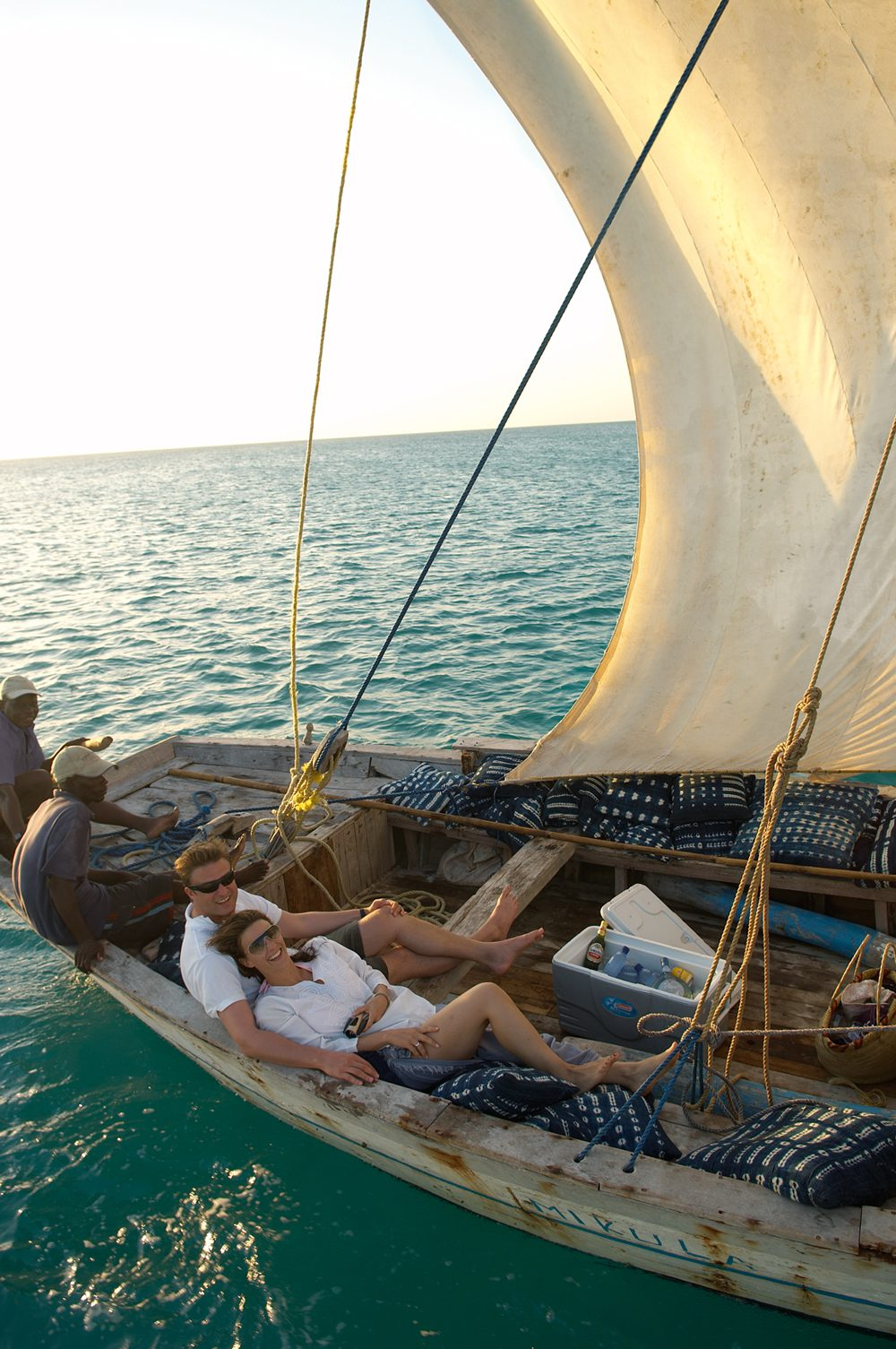 Mozambique couple in a Dhow
