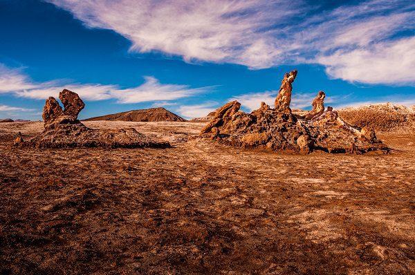 Desert landscapes in the Atacama Desert