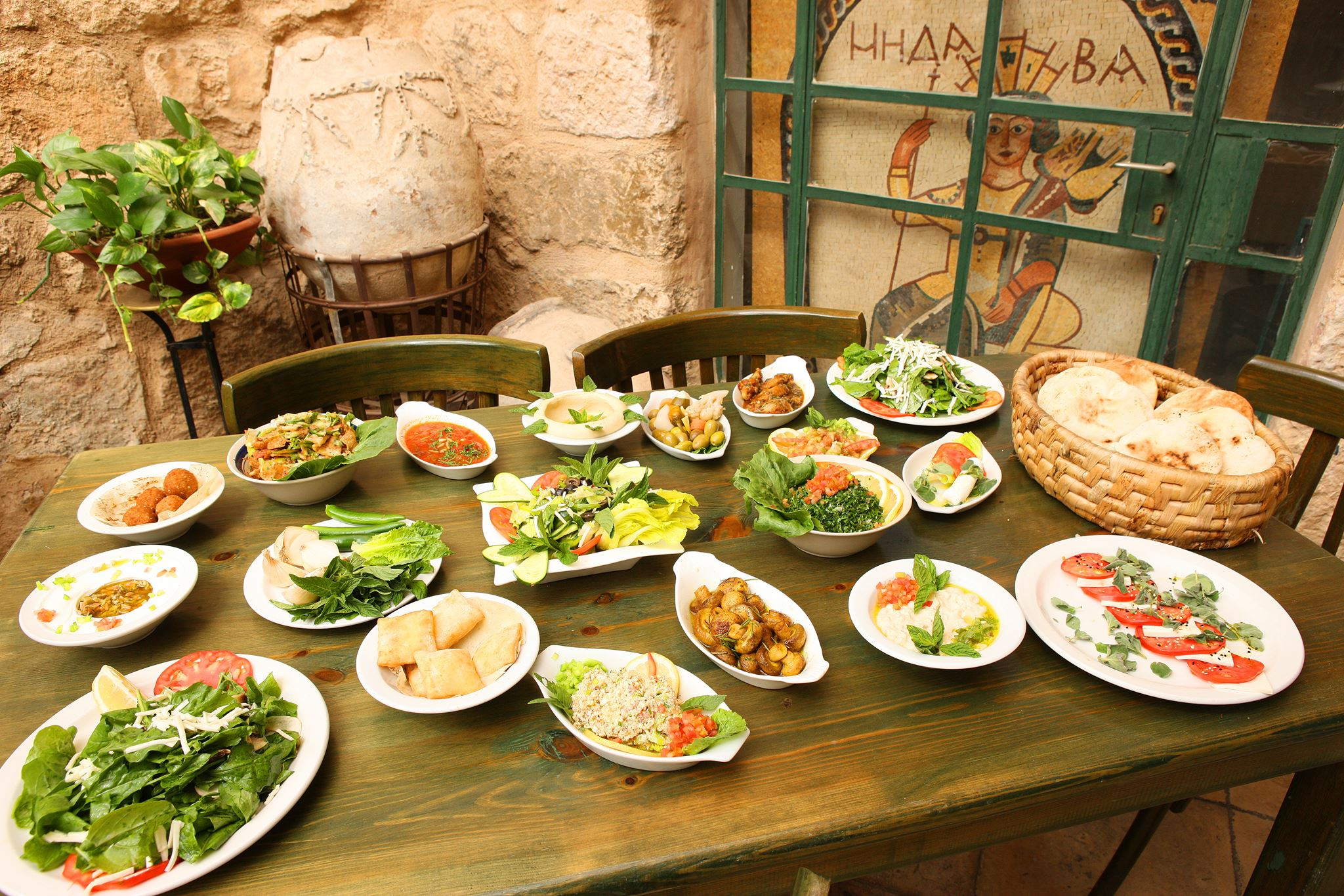 traditional Jordanian food mezze
