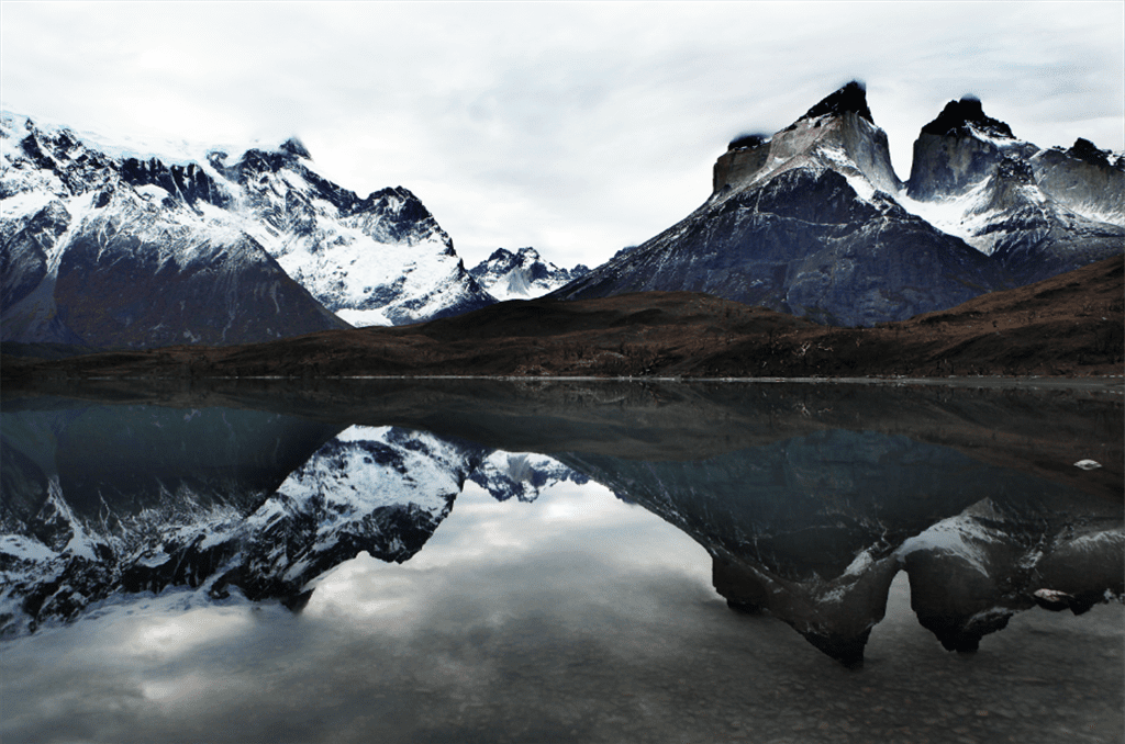 Dramatic mountains of Patagonia in Torres del Paine Chile