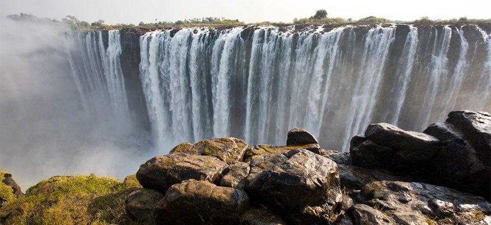 Victoria Falls seen on Zambia safari