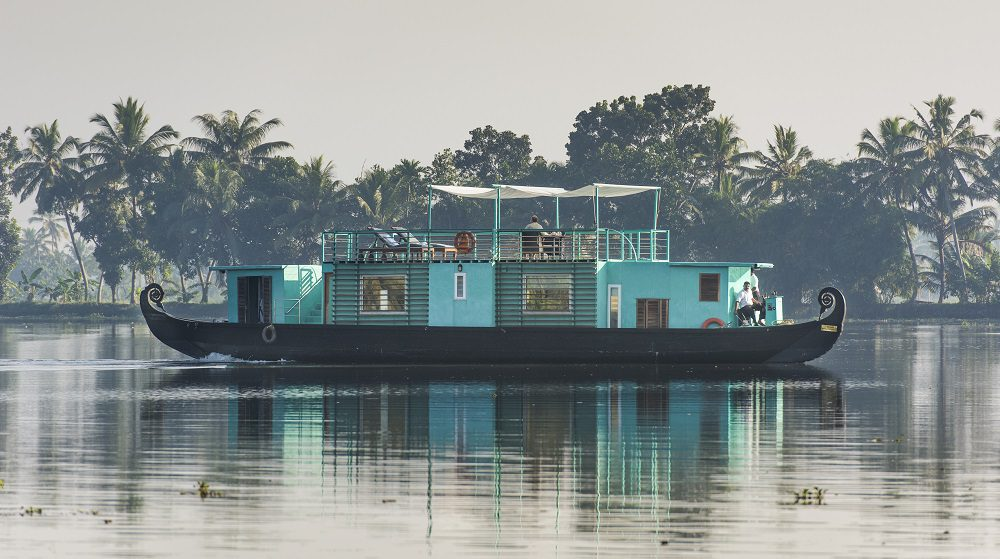 Unique hotels include a houseboat on still waters in India