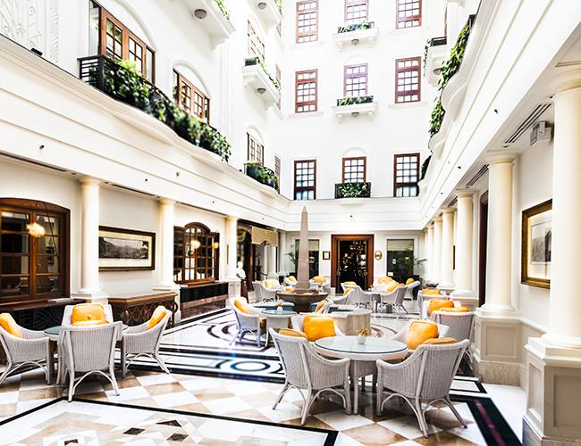 The Atrium of the Imperial New Delhi