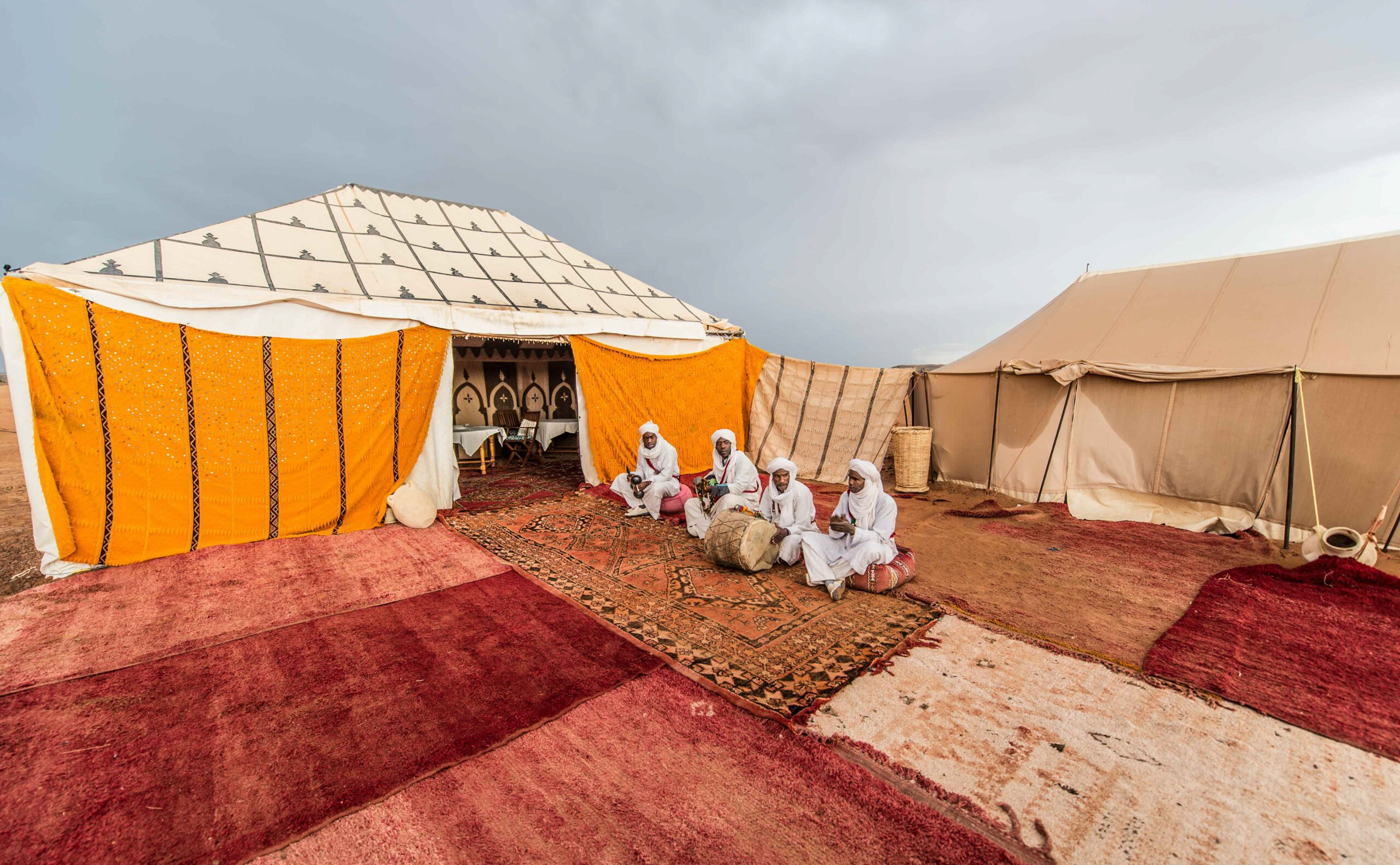 desert camp exterior view