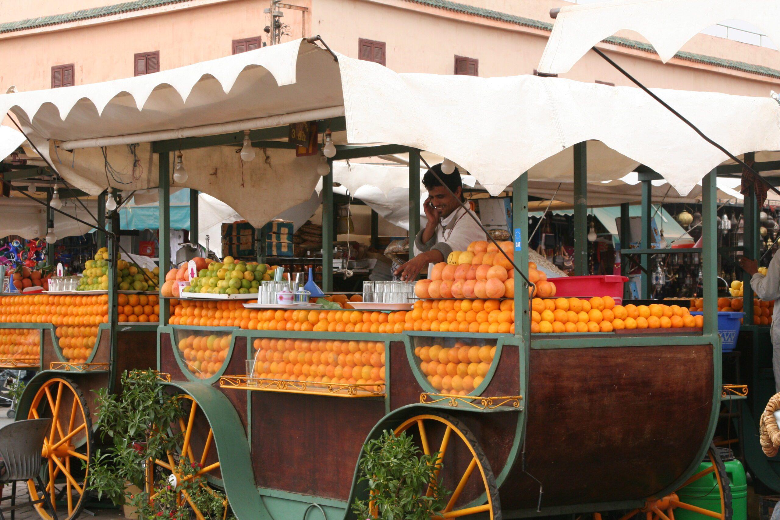 Fruit stall in marrakech