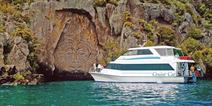 New Zealand Rotorua cruise boat