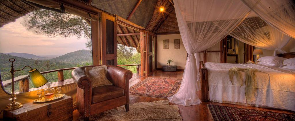 on fly-in Kenya Safari stay in Saruni Mara Tented Suite