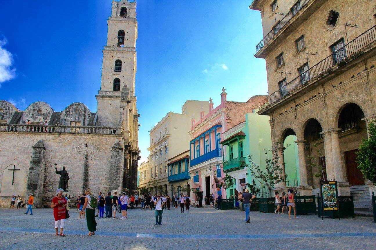 Main square in Havana seen on Cuba boutique travel holiday