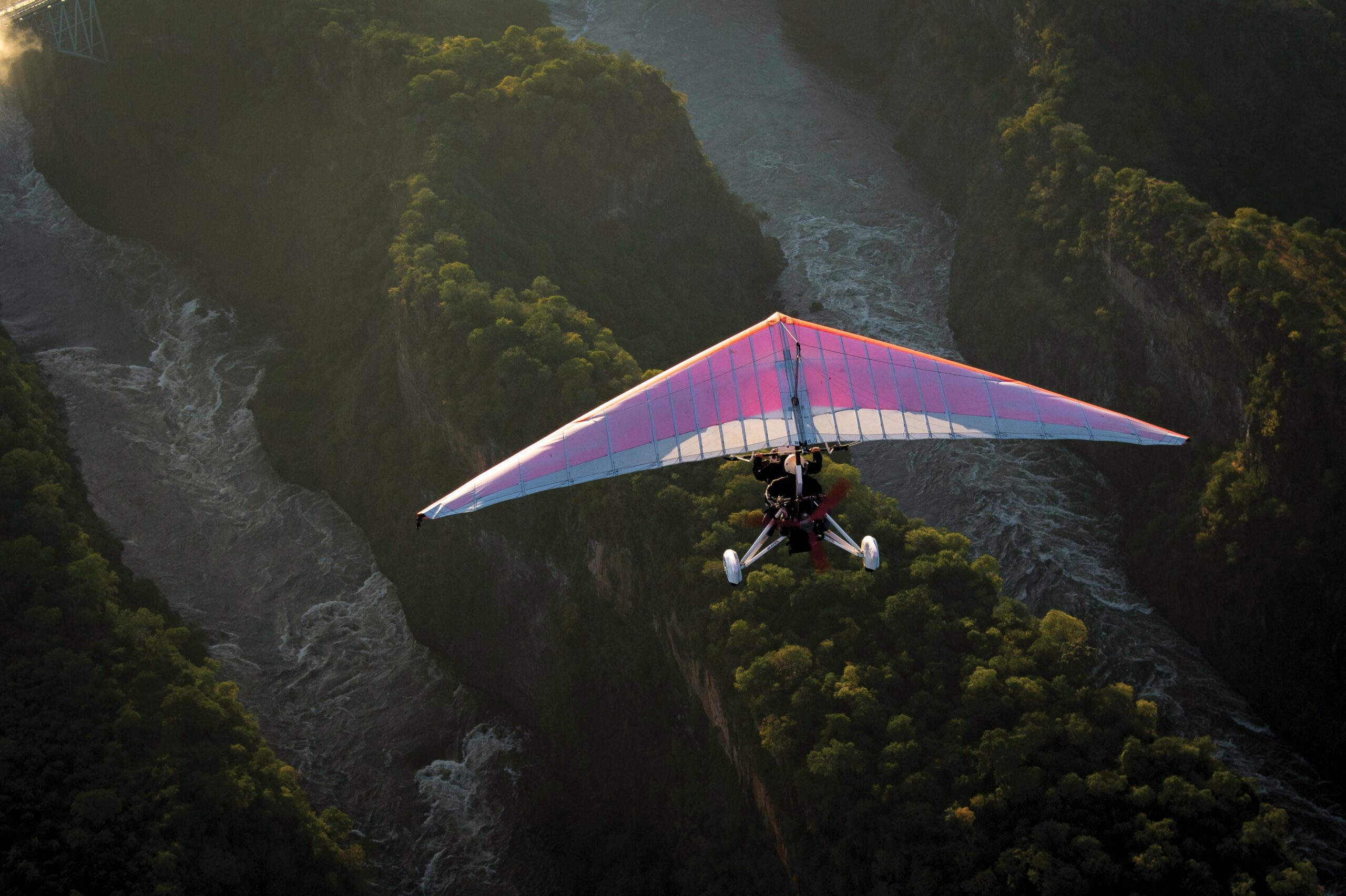 fly over victoria falls