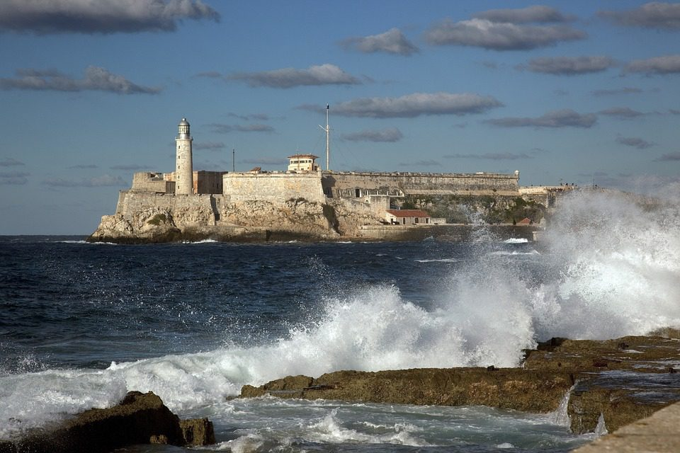 Water splashing at the Malecon in Havana on Cuba safari