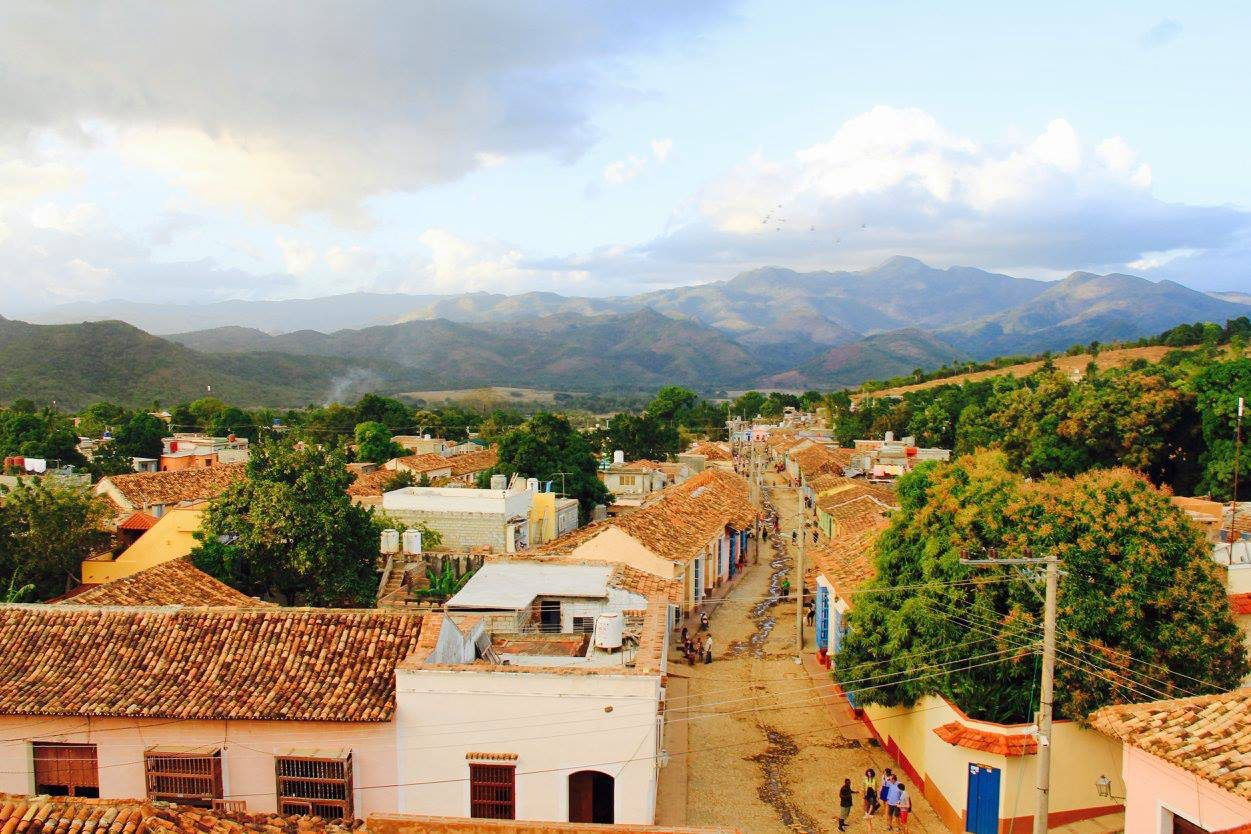 Beautiful countryside village and mountains beyond in Vinales on Cuba holiday