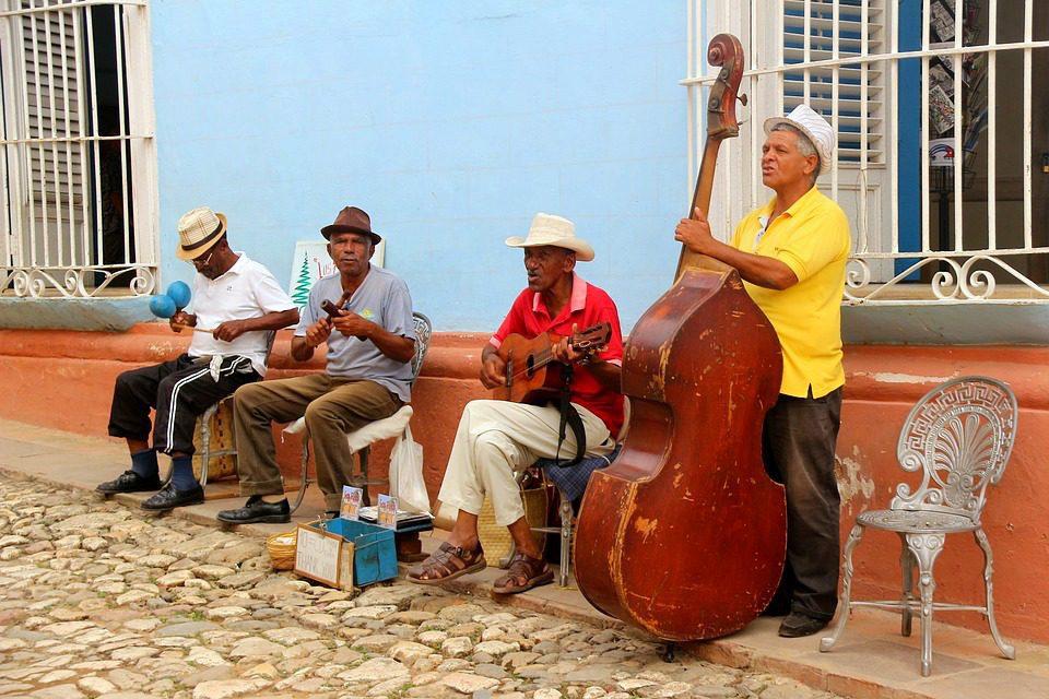 Street musicians in Trinidad Cuba