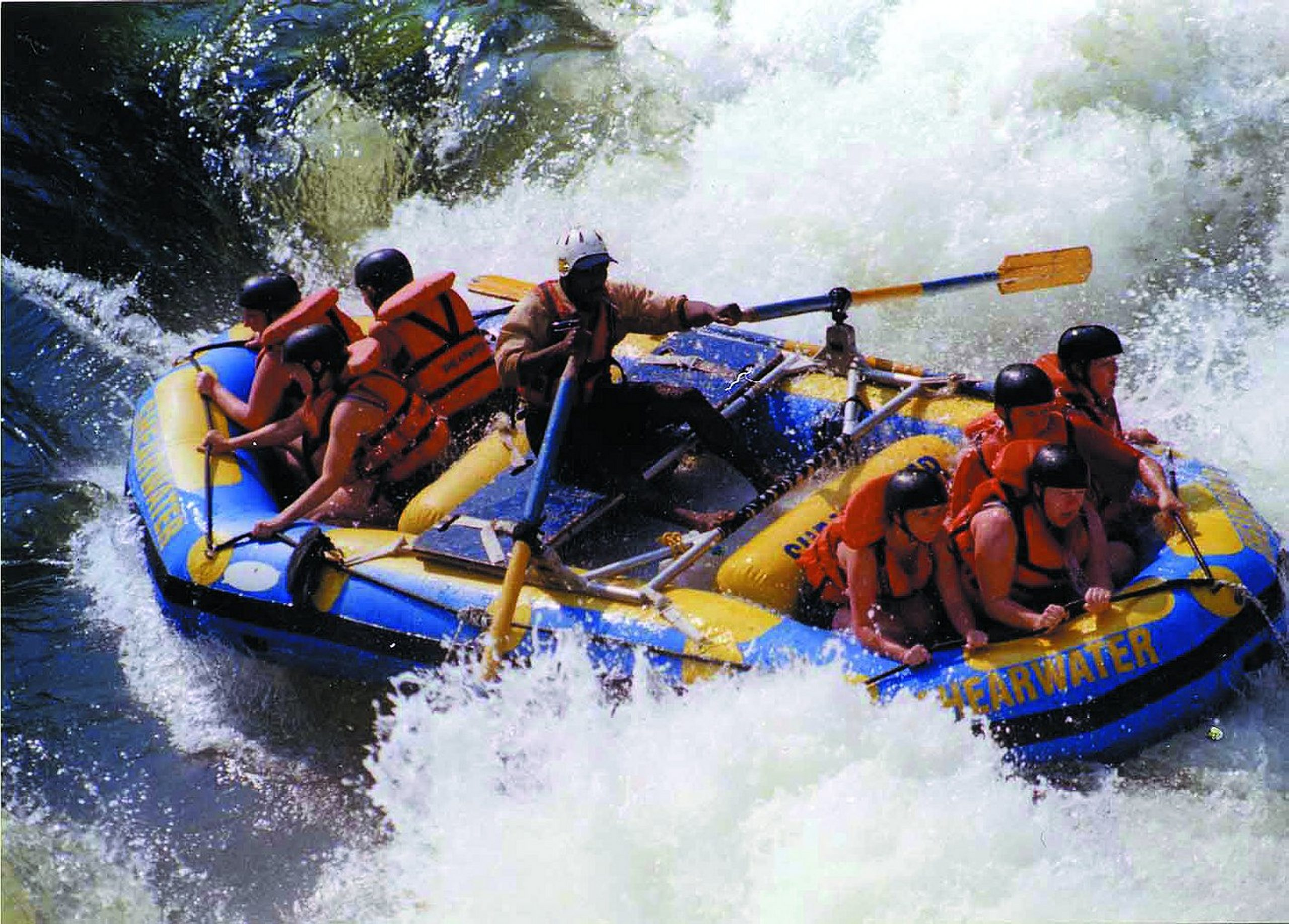 rafting in Victoria Falls