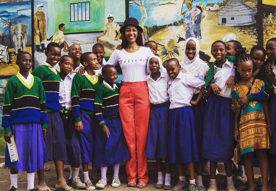 Visiting local school children at Chem Chem Safari Lodge