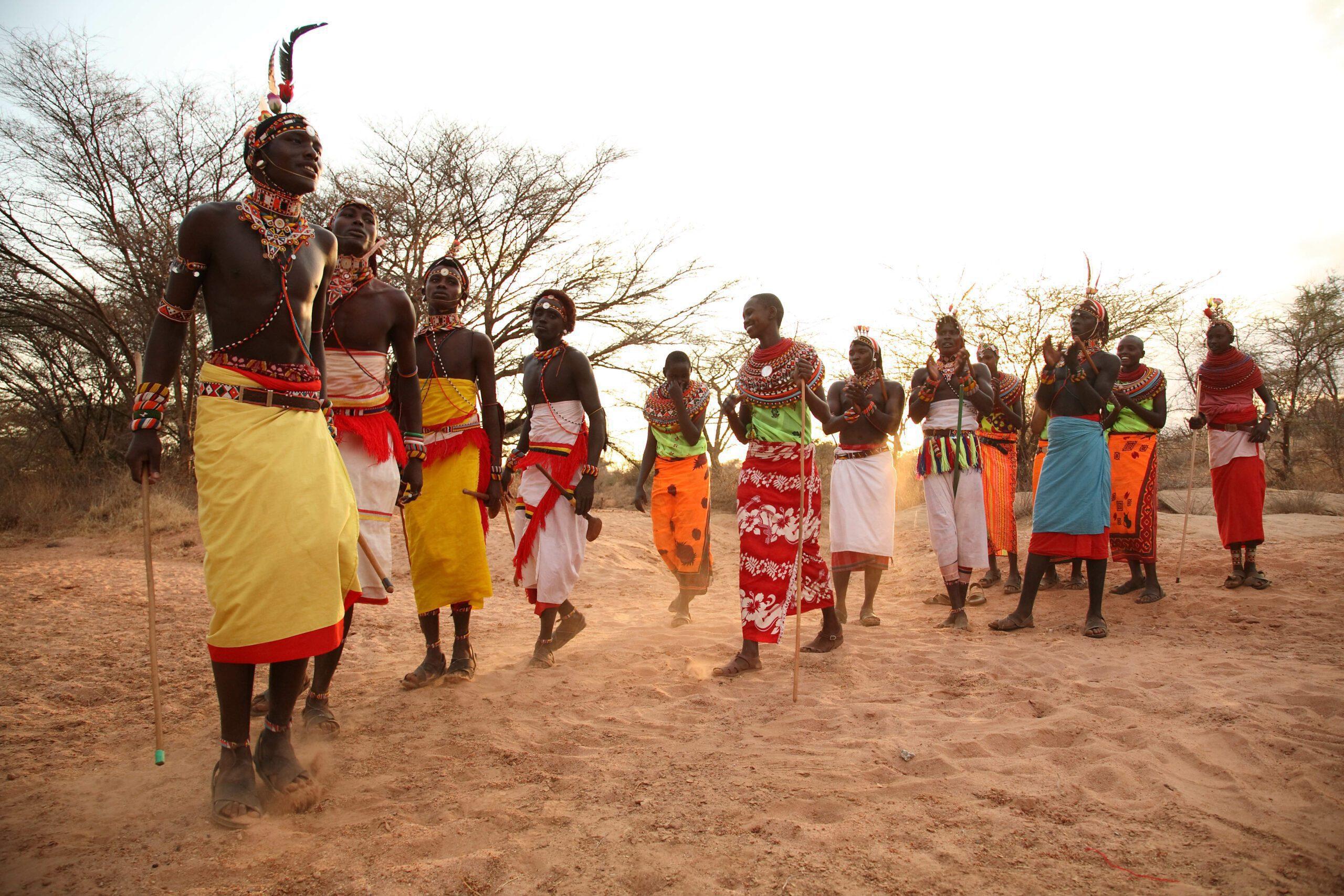 fly-in Kenya Safari visits Samburu tribesmen gathering