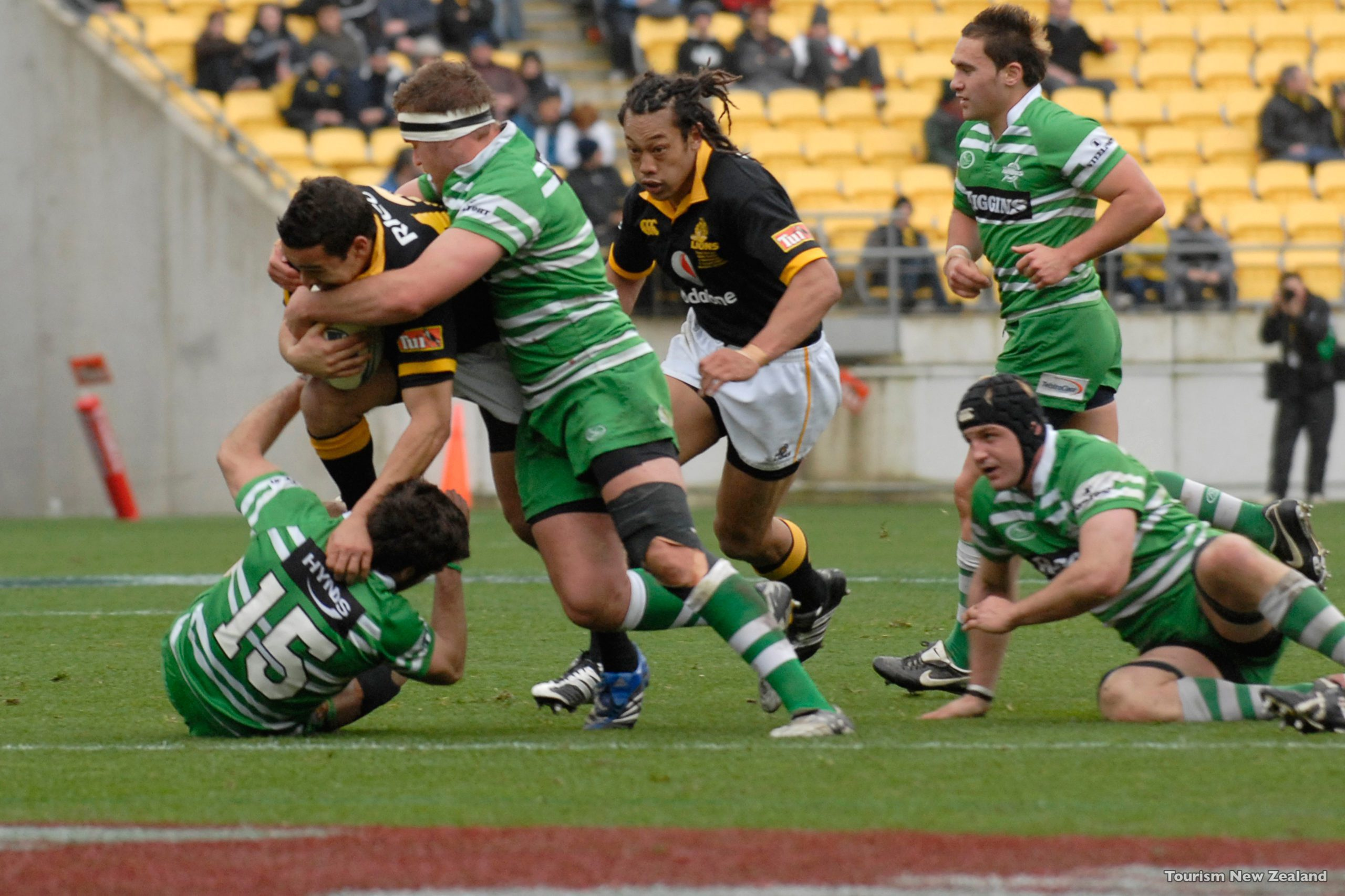 New Zealand's All Black playing at Westpac Stadium in Wellington