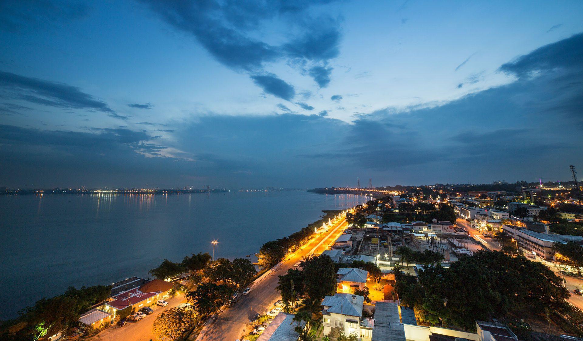 coastline of Brazzaville