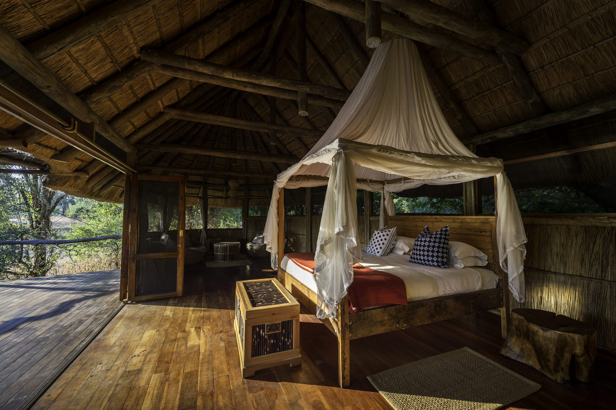 interior photo of bilimungwe on our walking Zambia safari