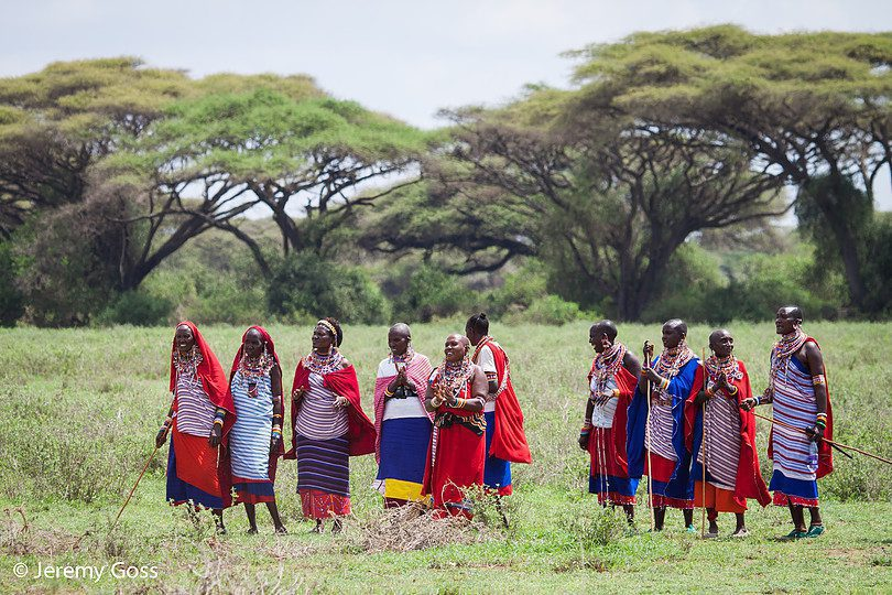 Maasai people in the Maasai Mara