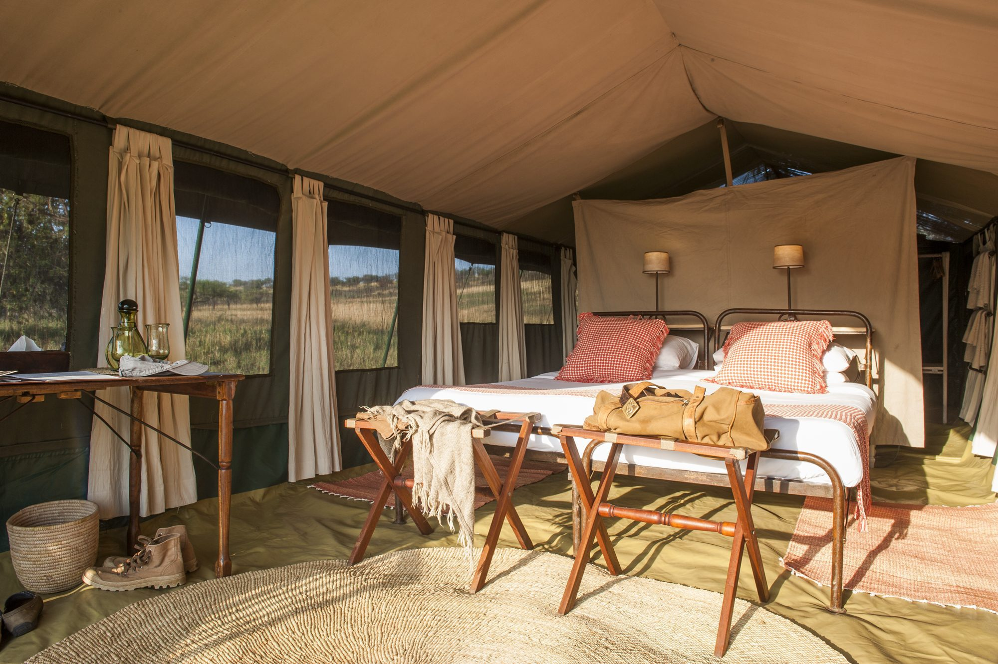 stay in a tent at Serengeti Safari Camp on our northern Tanzania safari