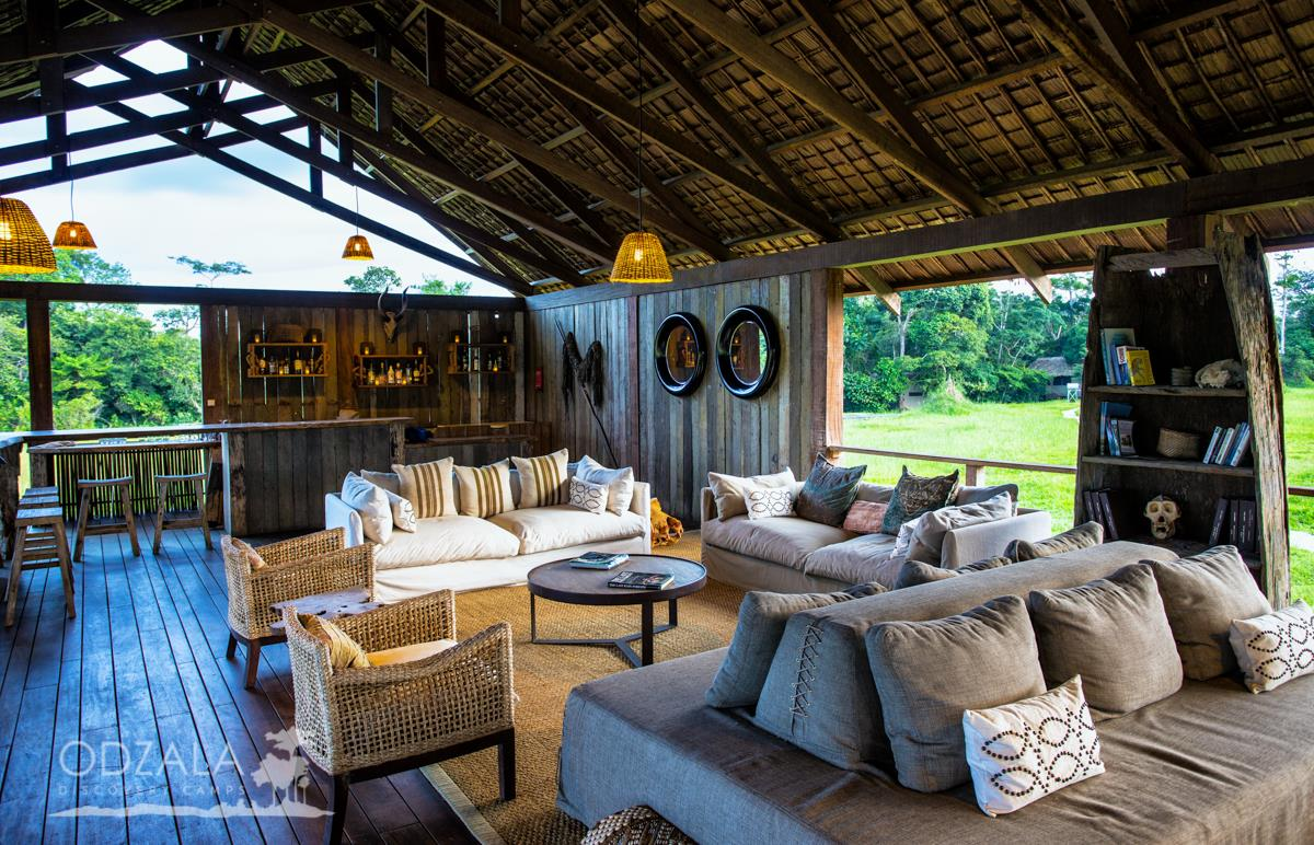 safari in republic of the congo mboko camp lounge