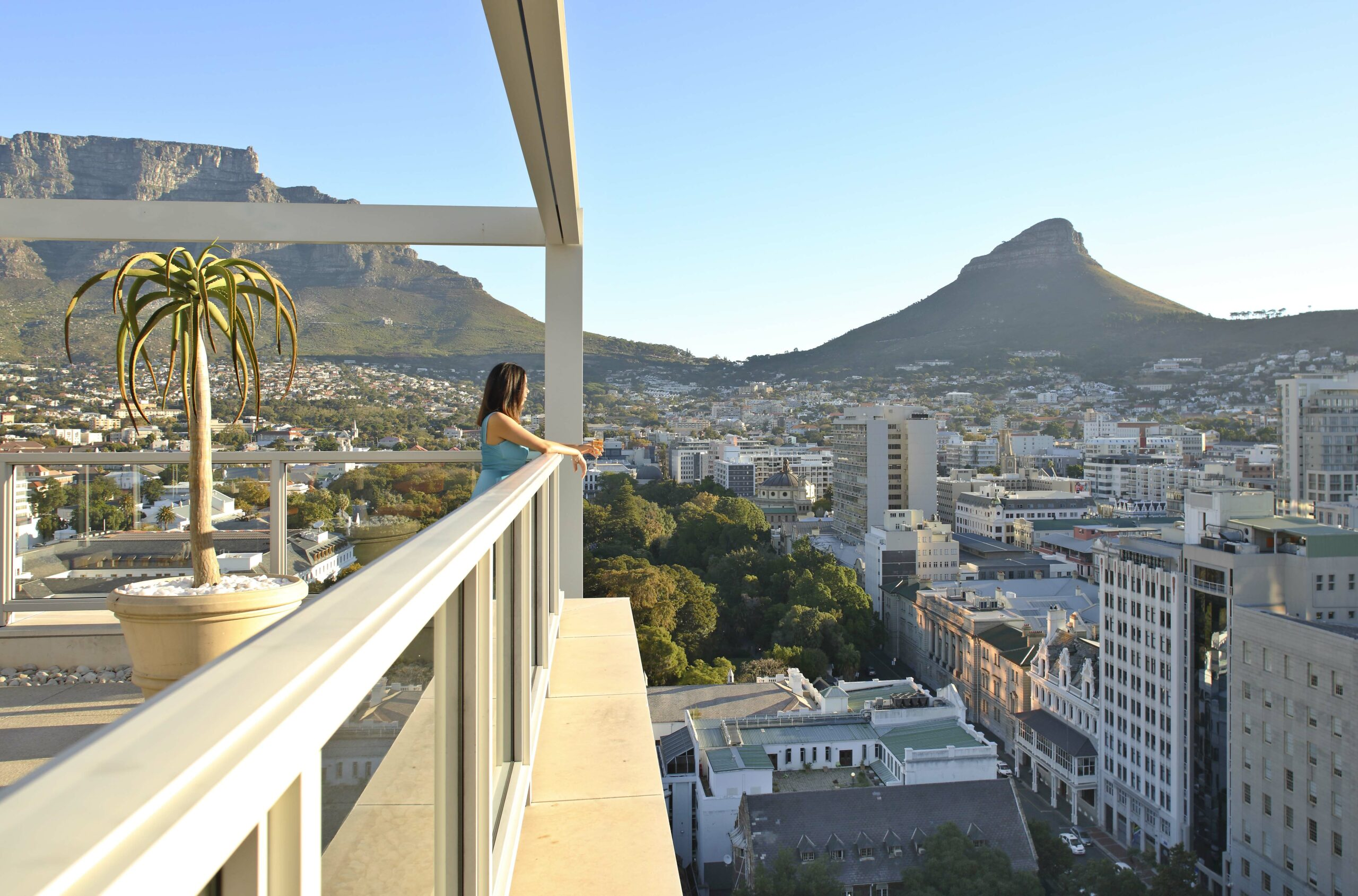 Rooftop overlooking lionshead in Cape Town