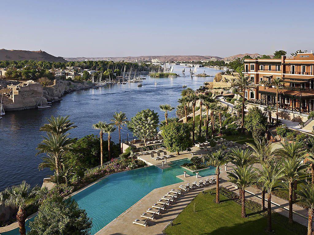 The sofitel old cataract hotel aswan seen on Egypt holiday